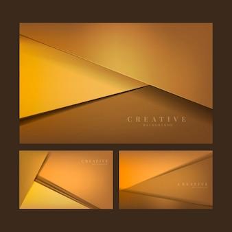 Satz abstrakte kreative hintergrunddesigne in der orange