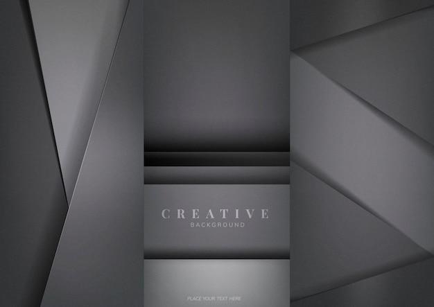 Satz abstrakte kreative hintergrunddesigne in dunkelgrauem