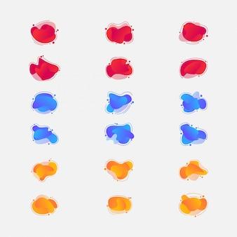 Satz abstrakte moderne grafische elemente.