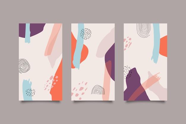 Satz abstrakte retro-farbabdeckungen