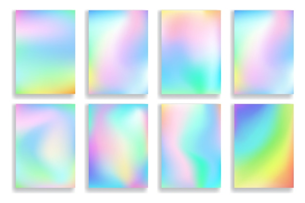 Satz abstrakte unscharfe bunte farbverlaufshintergründe