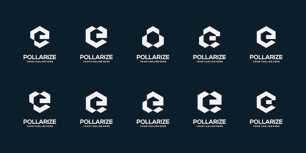 Satz abstrakter anfangsbuchstaben-logo-designschablone