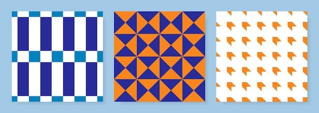 Satz abstrakter geometrischer nahtloser muster
