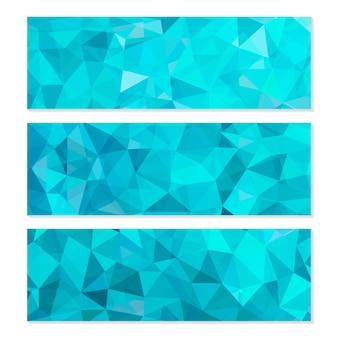 Satz abstrakter geometrischer polygonaler hintergründe.