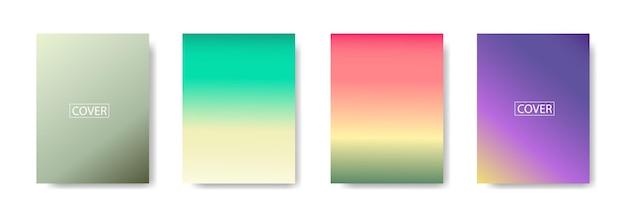 Satz abstrakter hintergrund mit schöner abstufungsfarbe, bunter hintergrund für plakatfliegerfahne background.vertikales banner.coole flüssige hintergrundvektorillustration
