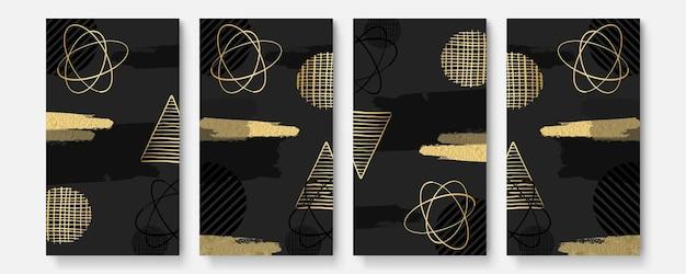Satz abstrakter kreativer universeller künstlerischer vorlagen
