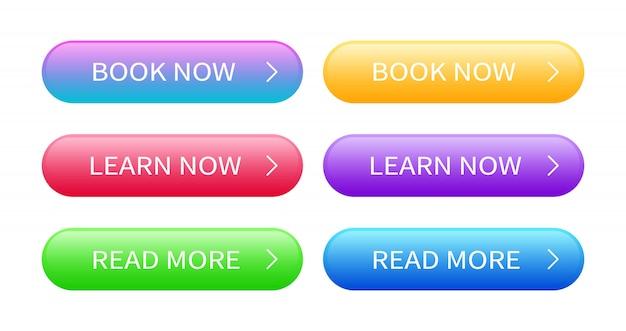 Satz abstrakter moderner webknöpfe.