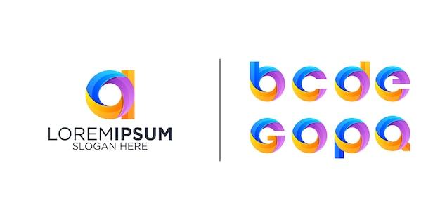 Satz alphabet logo symbole vorlage