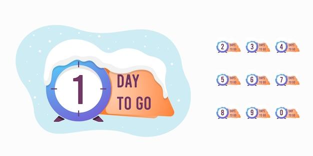 Satz anzahl tage übrig countdown illustration vorlage
