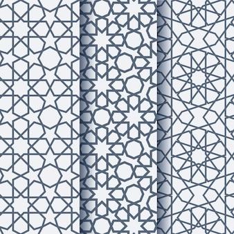 Satz arabisches elegantes geometrisches muster drei