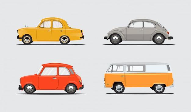 Satz autos für reise, freizeit, miete, familie, autoreise.