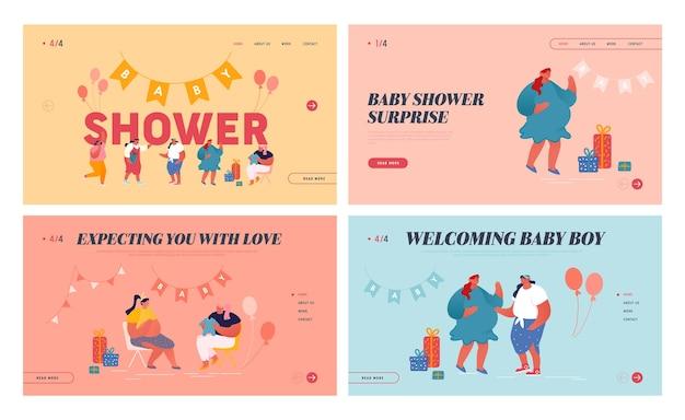 Satz baby shower celebration landing page