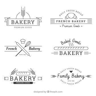 Satz bäckereilogos in der weinleseart