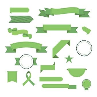 Satz bänder. moderne flache symbole in stilvollen farben. symbole für web- und mobile anwendungen. . isoliert.