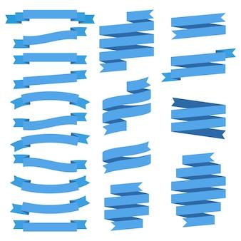 Satz bänder, vektorillustration