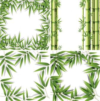 Satz bambusrahmen