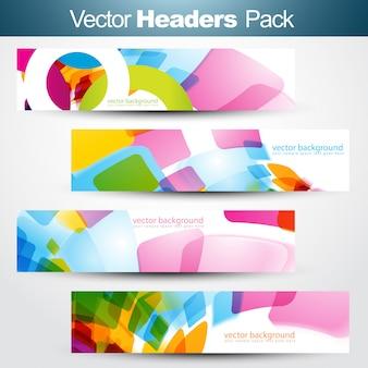 Satz banner-header-pack