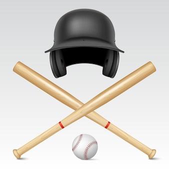 Satz baseballausrüstung