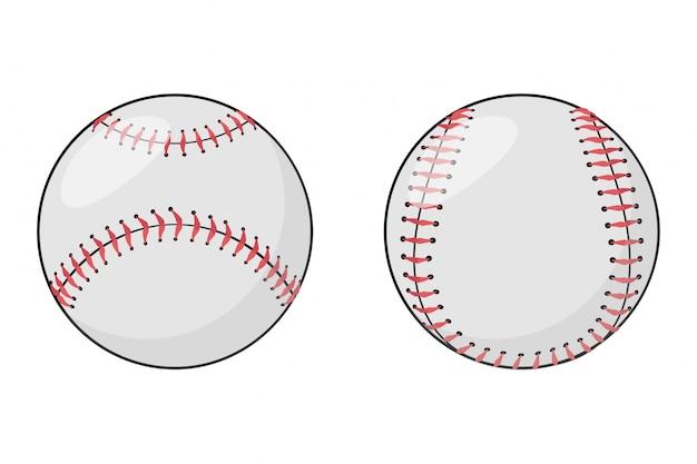 Satz baseballbälle.