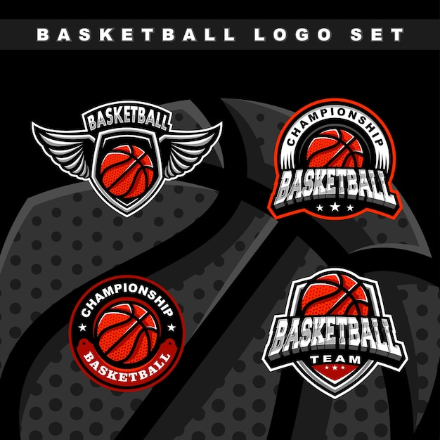 Satz basketball-sportlogo