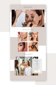 Satz blogger-e-mail-vorlage mit fotos