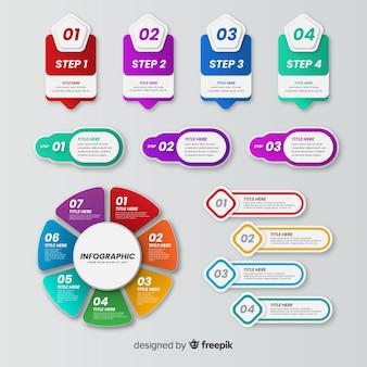 Satz bunte infographic elemente
