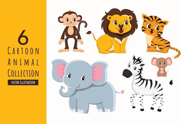Satz cartoon animal collection