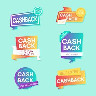 Satz cashback-etiketten