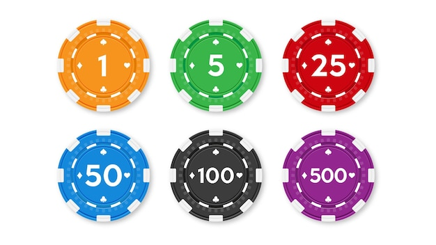 Satz chips für poker und casino.