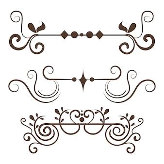 Satz dekorative grenzen