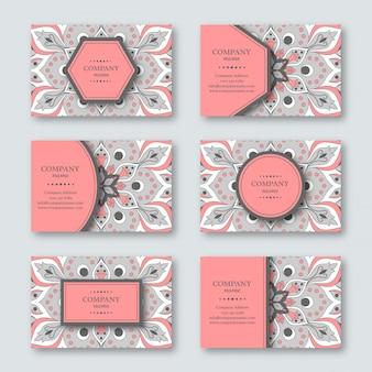 Satz dekorative handgezeichnete mandalakarten