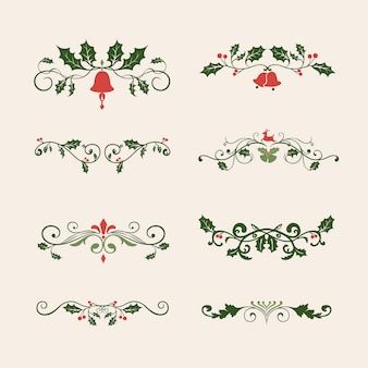 Satz dekorative weihnachtsschmuck