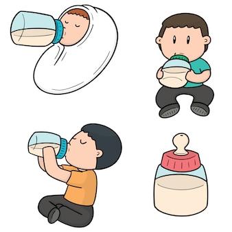Satz der babyflasche