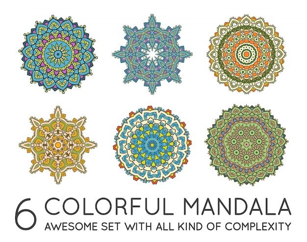 Satz der ethnischen fractal-mandala