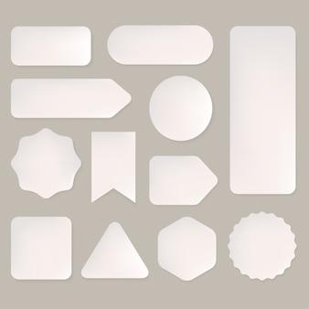 Satz der etikettenformdesign-artpapierkunst.