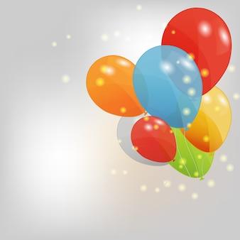 Satz der farbigen ballonillustration.