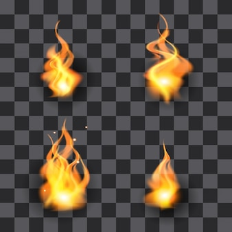 Satz der flammenillustration