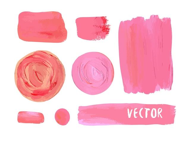 Satz der kosmetischen fleckbeschaffenheit der acrylfarbe