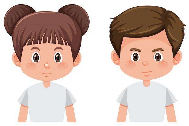 Satz der männlichen und weiblichen figur des brunette