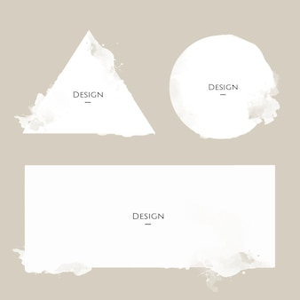 Satz der mitteilungs-ausweisschablonen-designillustration