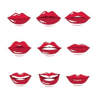 Satz der roten lippengeste