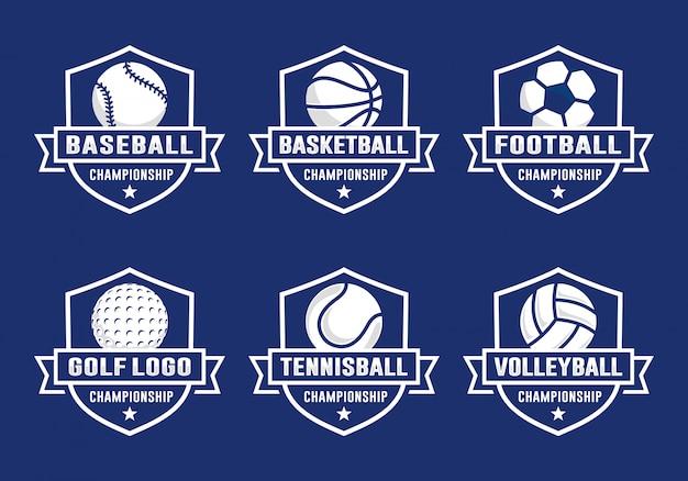 Satz der sportteam-logoschablone