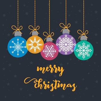 Satz der verschiedenen weihnachtsflitter-weihnachtskarte