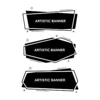 Satz des abstrakten banners in verschiedenen formen.