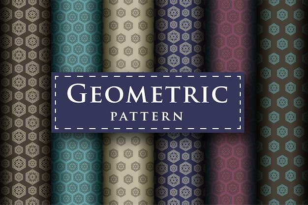 Satz des abstrakten geometrischen luxusdesignmusters nahtlos
