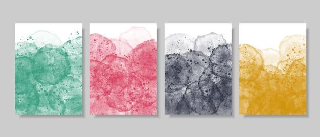 Satz des abstrakten hintergrunds des aquarells. kreative minimalistische handgemalte illustrationen.