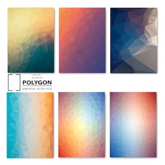 Satz des abstrakten polygonhintergrundes