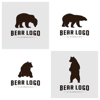 Satz des bären logo icon designs vector. bären-logo-konzepte
