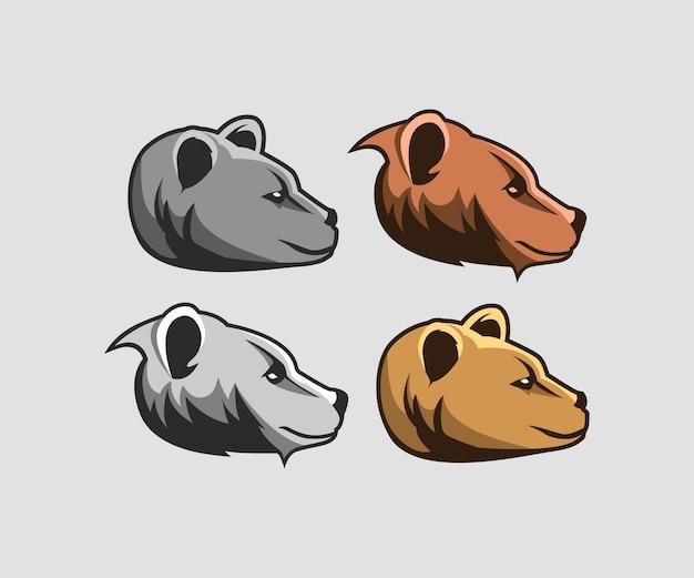 Satz des bärenkopf-logos