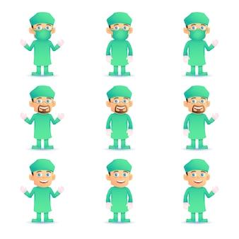 Satz des chirurgen in verschiedenen posen